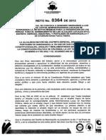 Decreto 0364 Alcaldes Locales