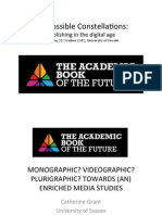 """Monographic? Videographic? Plurigraphic? Towards (an) Enriched Media Studies (Keynote Lecture at a symposium on """"The Academic Book of the Future"""")"""