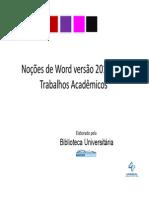 Tutorial Word-2010 Biblioteca