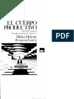 El Cuerpo Productivo - Didier Deleule y Francçois Guéry