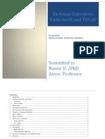 Final Zachman and TOGAF Enterprise Framework