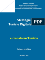Tunisie Digitale 2018 Note de Synthèse