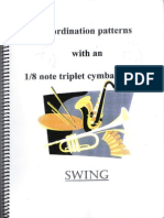Coordination Patterns With an 1-8 Note Triplet Cymbal Rhythm