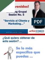 Coaching Grupo Sesión 5 S.C y Marketing Enviar