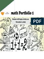 4th grade math portfolio 1 2015