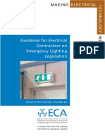 ECA - Guidance for Electrical Contractors on Emergency Lighting Legislation