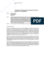 A Comparative Analysis of Social and Cultural Proxemics Regarding Philippines and Singapore