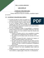 Tema 15. Sociedad Comanditaria