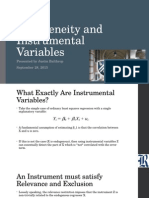 Endogeneity and Instrumental Variables