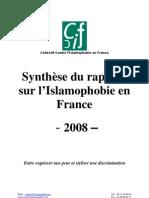 Collectif Contre l'Islamophobie en France  Synthèse du rapport sur l'Islamophobie en France