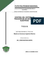 Control Del Sistema de Traccion de Un Vehiculo Electrico