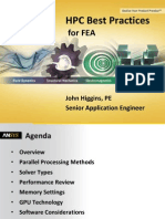 Hpc Best Practices for Fea