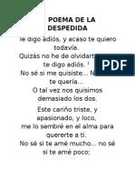 Poema de La Despedida