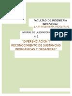Laborg1(Diferenciacion y Reconocimiento de Sustancias Inorganicas y Organicas)