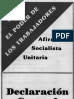 Declaración General Afirmación Socialista Unitaria