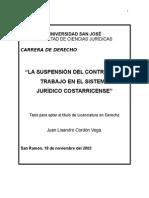 Tesis La Suspensión Del Contrato Laboral