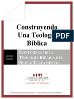 Contornos de La Teología Bíblica en El Nuevo Testamento