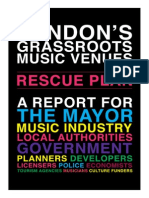 London's Grassroots Music Venues Rescue Plan (October 2015)