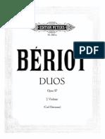 Beriot Opus 57 for 2 violins
