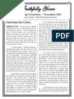 Nov 2015 Newsletter