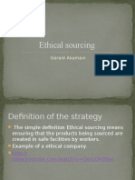 Ethical Sourcing Powerpoint going global