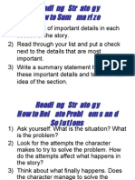 ESL 3 READING STRATEGY  NOTES
