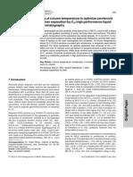 JSS, Análisis de Carotenoides Columna C30