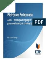 Eletrônica Embarcada - Aula 3 - Introdução a Liguagem VHDL