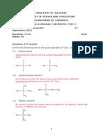 Organic Chemistry Test 2-Solutions