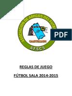 Reglas de Juego 2014-2015 Afscs