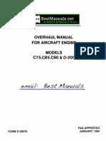 4746613-Continental C75 C85 C90 O-200 Engine Overhaul Manual