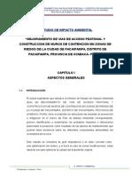 Estudio de Impac.AMBIENTAL EN EL PROYECTO PISTAS VE VERDAS PACAIPAMPA
