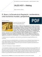 Robert Boyer y La Escuela de La Regulación