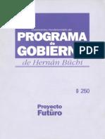 Programa de Gobierno de Hernán Buchi