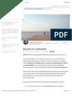 Education for sustainability. | Albert Vilariño Alonso | LinkedIn