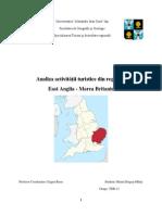 Analiza Activităţii Turistice Din Regiunea East Anglia