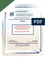 L'Audit Opérationnel Des Systèmes de Gestion d'Une Mutuelle Marocaine Cas de La Mutuelle ACS[1].
