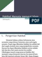 PAI 1 ''Hakikat Manusia Menurut Islam''