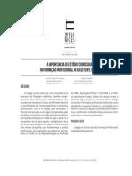 A IMPORTÂNCIA DO ESTÁGIO CURRICULAR  NA FORMAÇÃO PROFISSIONAL DO ASSISTENTE SOCIAL