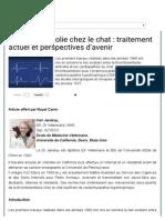 Thromboembolie Chez Le Chat _ Traitement Actuel Et Perspectives D_'Avenir