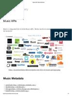 Music APIs _ Music Machinery