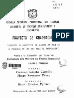 Proyecto de almidon de yuca en Ecuador
