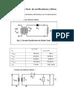 Informe Final de Rectificadores y Filtros Numero 1