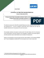 NPSA20 High Risk Consensus List Final Nov 2013