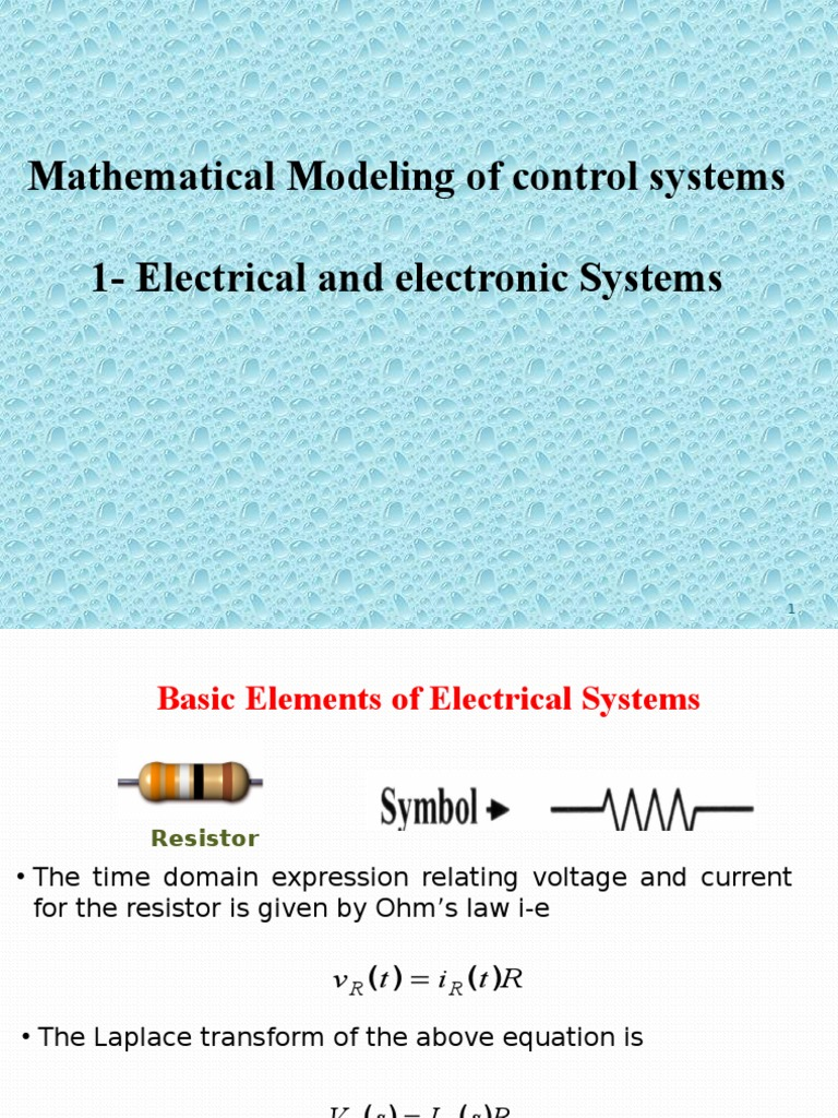 Modeling of Electrical Systems   Operational Amplifier   Analog Circuits