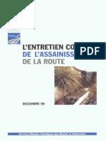 L'ENTRETIEN COURANT DE L'ASSAINISSEMENT DE LA ROUTE