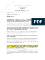 Valley News (Vt.) Gay Marriage article