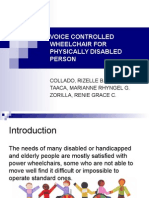 Voice Controlled Wheelchair for Physically Disabled Person