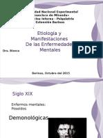 Etiologia y Manifestaciones Clinicas de Las Enfermedades Mentales