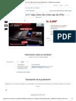 Asus G751jt Core I7 _ 16gb _ Disco 2tb _ Video 3gb Gtx 970m - S_. 6
